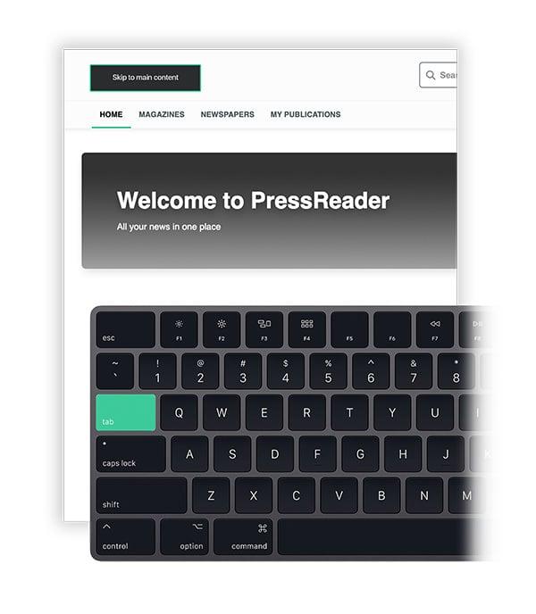 PressReader Accessibility: Keyboard Navigation