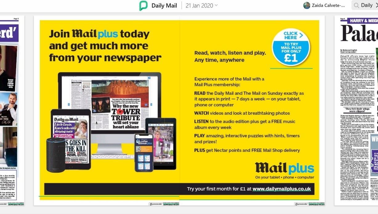 Daily Mail Digital Insert