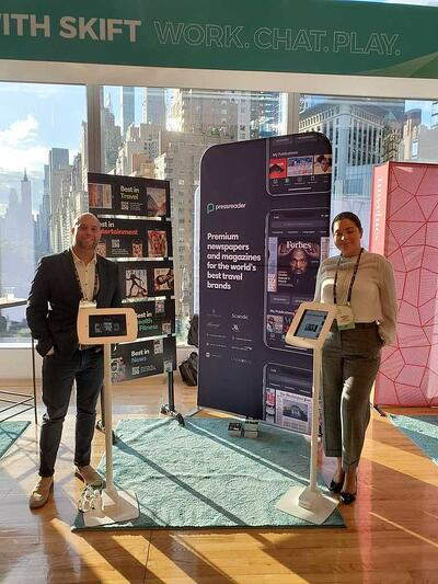 PressReader brings digital newspapers and magazines for hotels to Skift Global Forum in New York City.