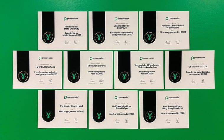 PressReader Partner Award Winners