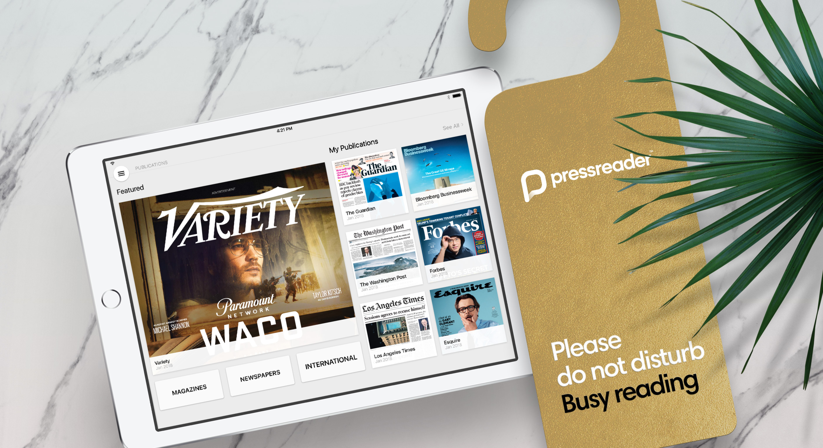 Variety on PressReader - visual