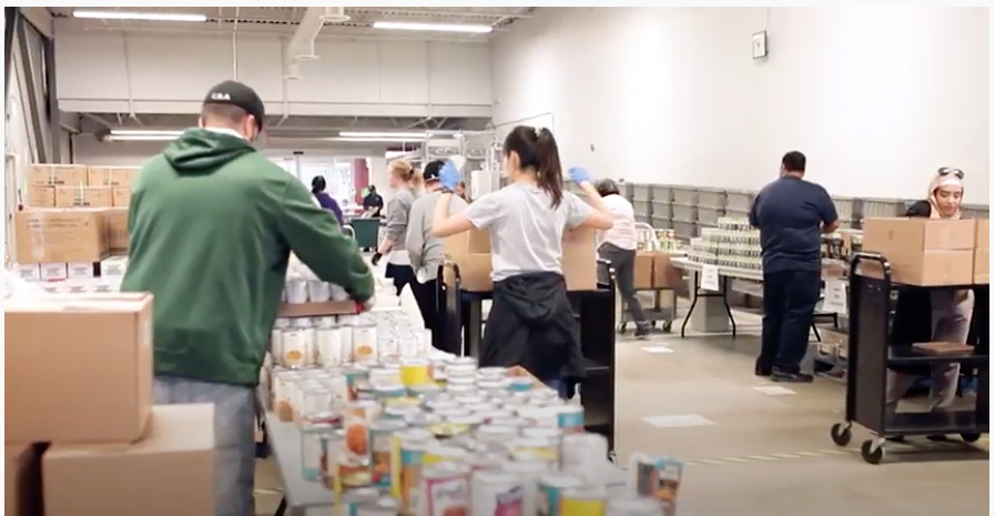 Toronto Public Library  - Goodwill: converted 12 of its branches into food bank distribution center