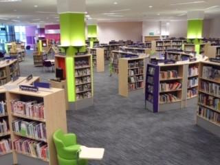 Surrey Libraries Bookshelves