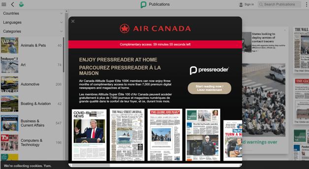 Air Canada Dashboard
