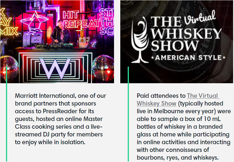 Marriott and Whiskey virtual events