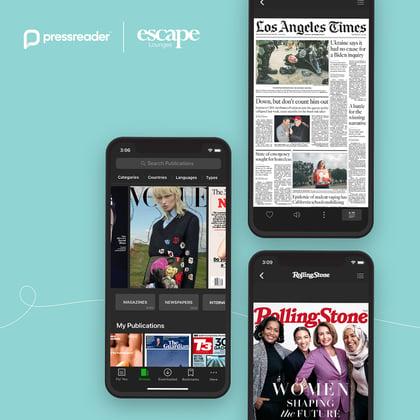 PressReader partnered with Escape Lounges