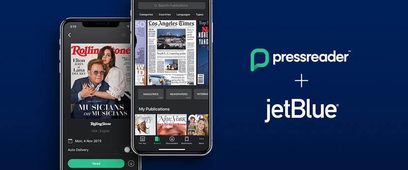PressReader partners with JetBlue