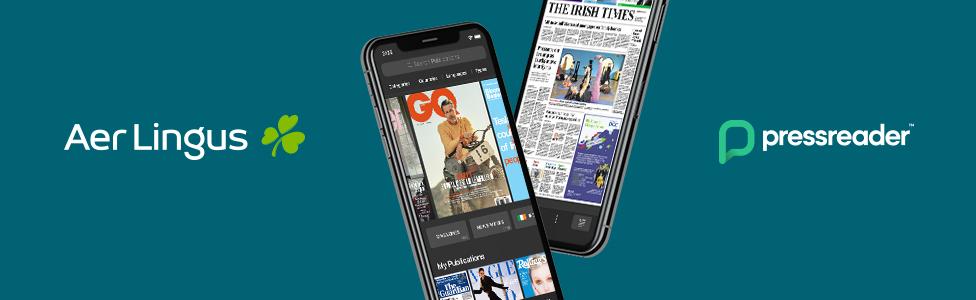 PressReader partnered with Aer Lingus