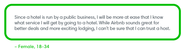 Quote from millennial travelers