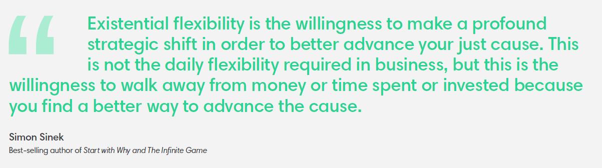 Existential flexibility, Simon Sinek